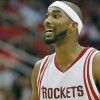 Oct 28, 2015; Houston, TX, USA; Houston Rockets guard Corey Brewer (33) looks for a call against the Denver Nuggets in the second half on opening night at Toyota Center. Denver won 105 to 85. Mandatory Credit: Thomas B. Shea-USA TODAY Sports