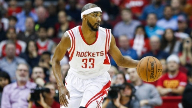 Dec 22, 2014; Houston, TX, USA; Houston Rockets forward Corey Brewer (33) during the game against the Portland Trail Blazers at Toyota Center. Mandatory Credit: Troy Taormina-USA TODAY Sports
