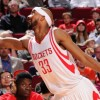 HOUSTON, TX - MARCH 25:  Corey Brewer #33 of the Houston Rockets tries to save a loose ball against the Toronto Raptors on March 25, 2016 at the Toyota Center in Houston, Texas. NOTE TO USER: User expressly acknowledges and agrees that, by downloading and or using this photograph, User is consenting to the terms and conditions of the Getty Images License Agreement. Mandatory Copyright Notice: Copyright 2016 NBAE (Photo by Bill Baptist/NBAE via Getty Images)